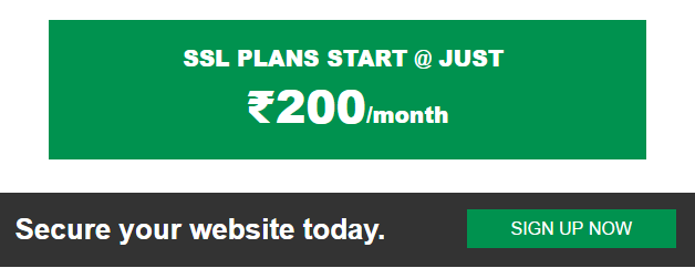 SSL PLANS START @ JUST ₹125/month